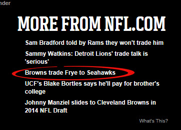 BREAKING NEWS FROM NFL.COM!!